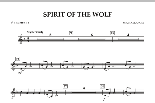 Spirit Of The Wolf - Bb Trumpet 1 (Concert Band)