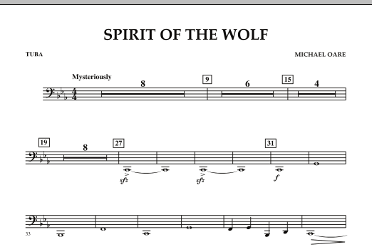 Spirit Of The Wolf - Tuba (Concert Band)