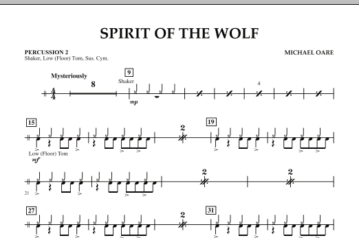 Spirit Of The Wolf - Percussion 2 (Concert Band)