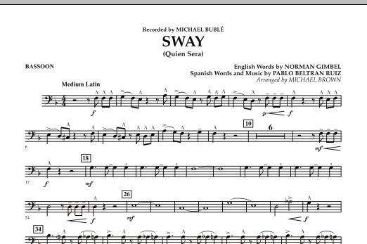 Sway (Quien Sera) - Bassoon (Concert Band)