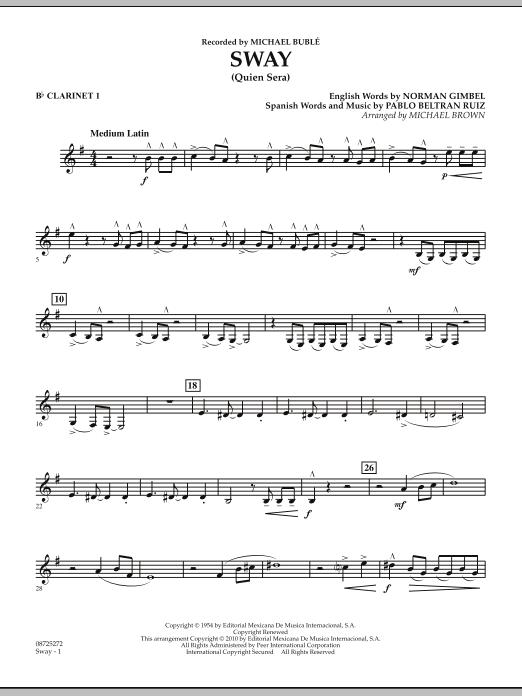 Sway (Quien Sera) - Bb Clarinet 1 (Concert Band)