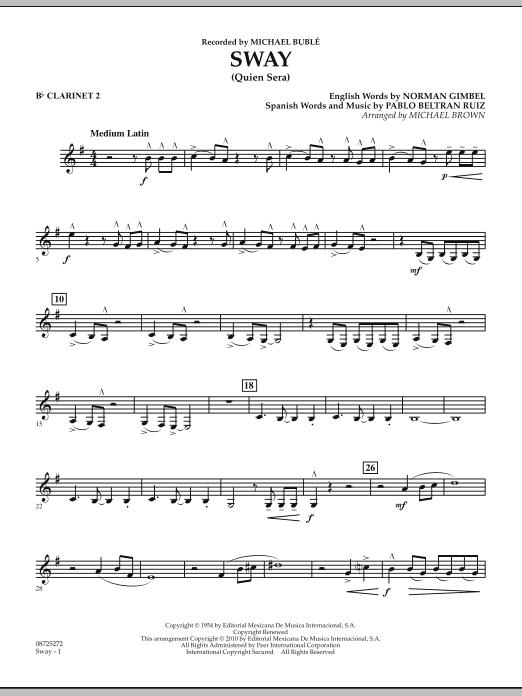 Sway (Quien Sera) - Bb Clarinet 2 (Concert Band)