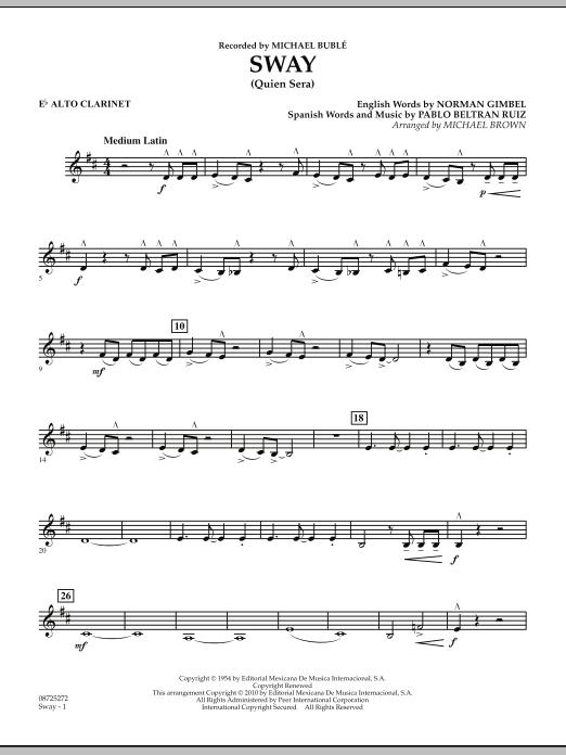 Sway (Quien Sera) - Eb Alto Clarinet (Concert Band)