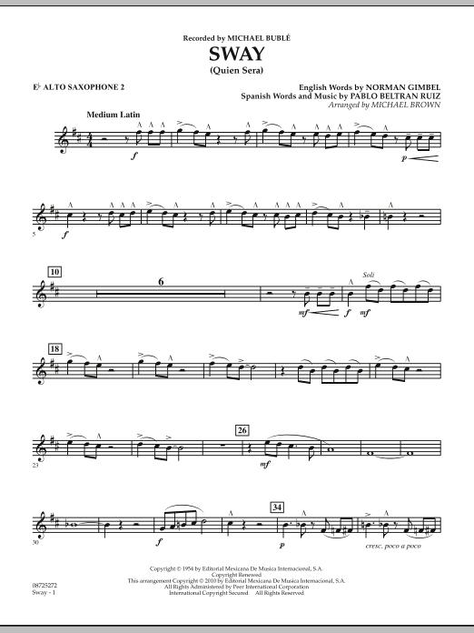 Sway (Quien Sera) - Eb Alto Saxophone 2 (Concert Band)