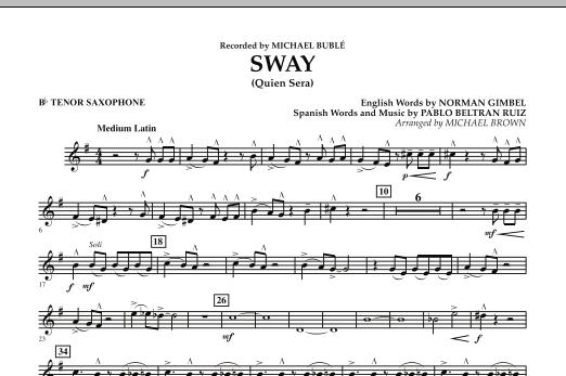 Sway (Quien Sera) - Bb Tenor Saxophone (Concert Band)