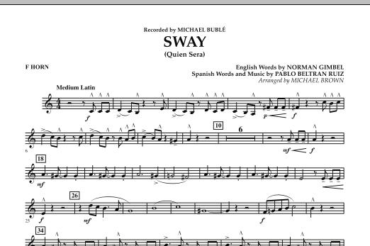Sway (Quien Sera) - F Horn (Concert Band)