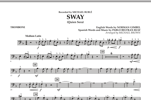 Sway (Quien Sera) - Trombone (Concert Band)