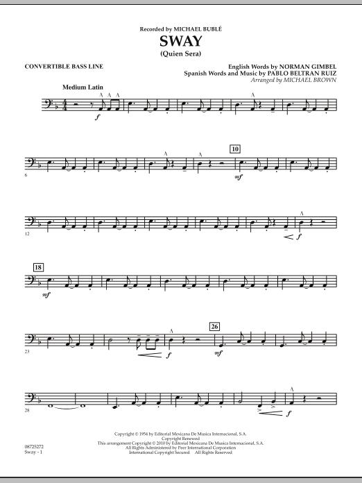 Sway (Quien Sera) - Convertible Bass Line (Concert Band)