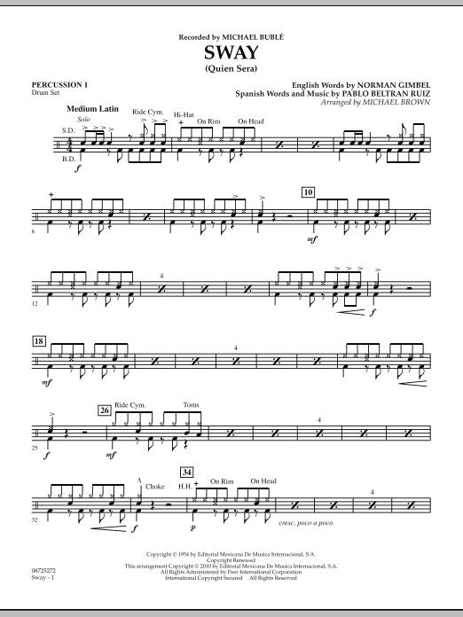 Sway (Quien Sera) - Percussion 1 (Concert Band)