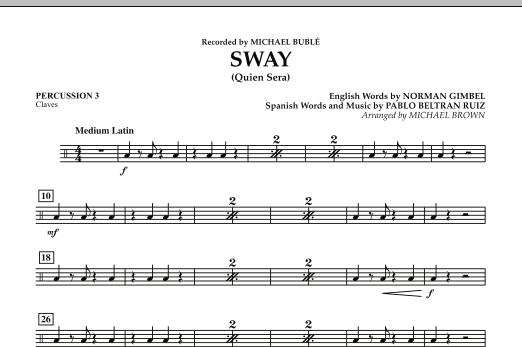 Sway (Quien Sera) - Percussion 3 (Concert Band)