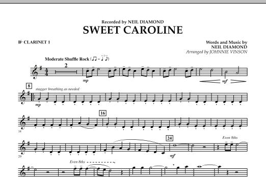 Sweet Caroline - Bb Clarinet 1 (Concert Band)