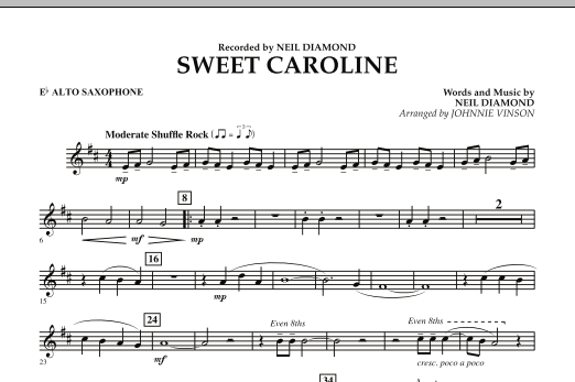 Sweet Caroline - Eb Alto Saxophone (Concert Band)