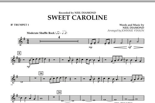 Sweet Caroline - Bb Trumpet 1 (Concert Band)
