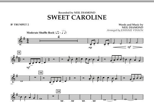 Sweet Caroline - Bb Trumpet 2 (Concert Band)