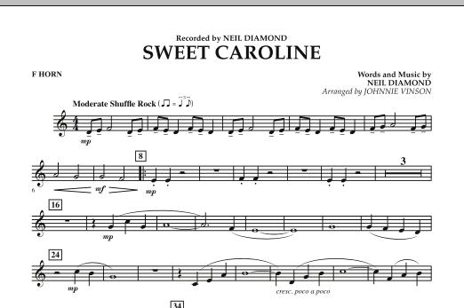 Sweet Caroline - F Horn (Concert Band)