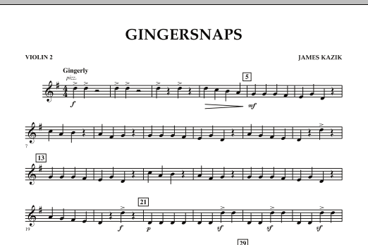 page one of Gingersnaps - Violin 2ASALTTEXT