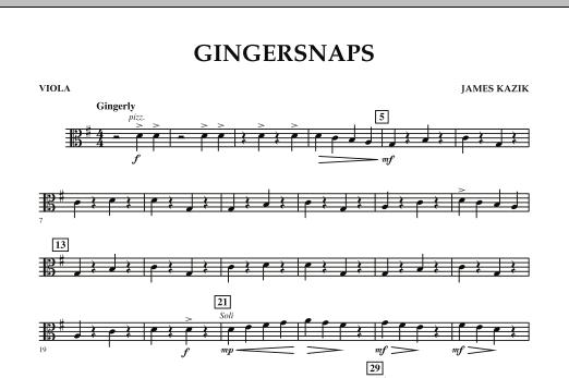 Gingersnaps - Viola (Orchestra)