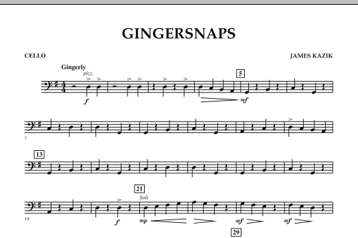 page one of Gingersnaps - CelloASALTTEXT