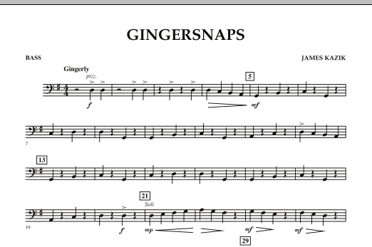 page one of Gingersnaps - BassASALTTEXT