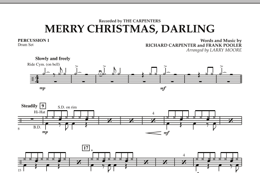Merry Christmas, Darling - Percussion 1 (Orchestra)