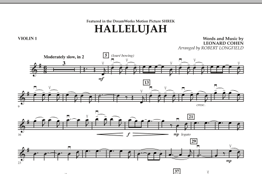 Hallelujah - Violin 1 (Orchestra)