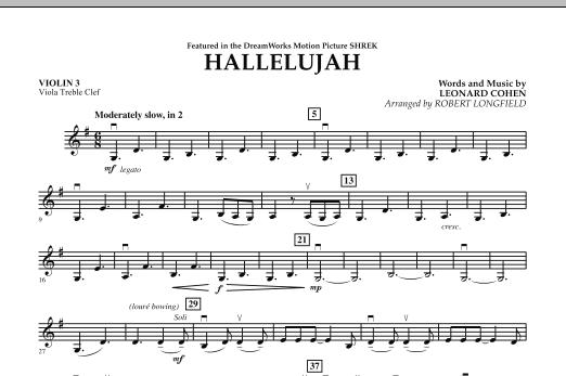 Hallelujah - Violin 3 (Viola Treble Clef) (Orchestra)