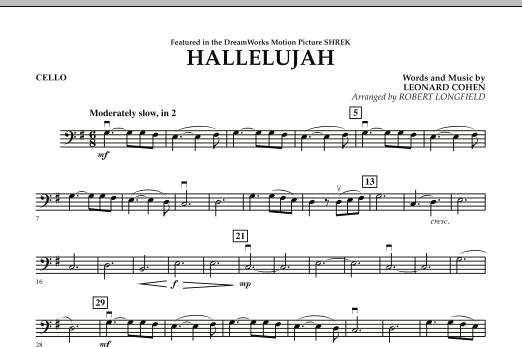 Hallelujah - Cello (Orchestra)