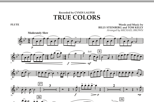 True Colors Bassoon By Tom Kelly Billy Steinberg Michael Brown