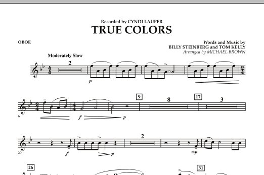 True Colors - Oboe (Concert Band)
