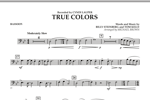 True Colors - Bassoon (Concert Band)