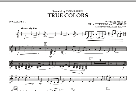 True Colors Bb Clarinet 1 Sheet Music To Download