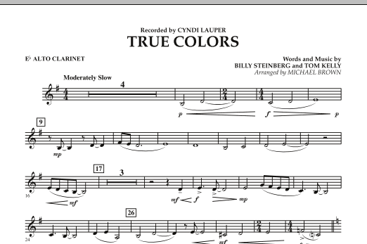 True Colors - Eb Alto Clarinet (Concert Band)