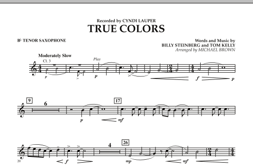 True Colors - Bb Tenor Saxophone (Concert Band)