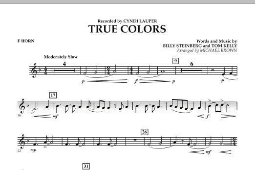 True Colors - F Horn (Concert Band)