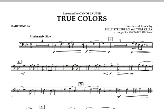 True Colors - Baritone B.C. (Concert Band)