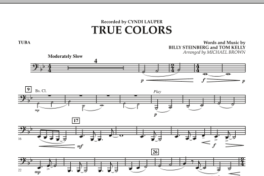 True Colors - Tuba (Concert Band)