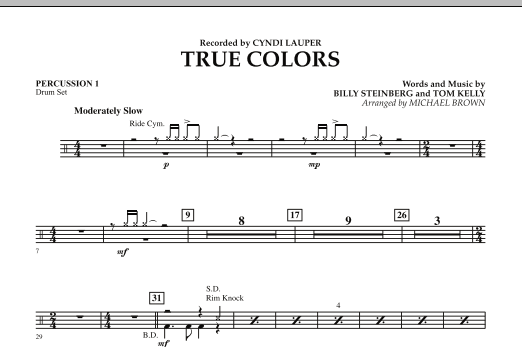 True Colors - Percussion 1 (Concert Band)