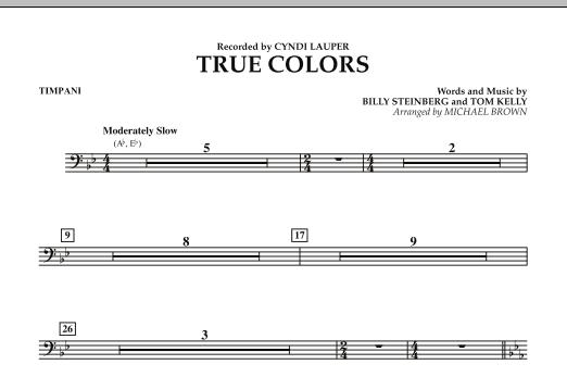 True Colors - Timpani (Concert Band)