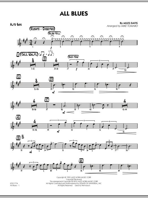 All Blues - Alto Sax (Jazz Ensemble)