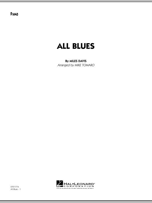 All Blues - Piano (Jazz Ensemble)