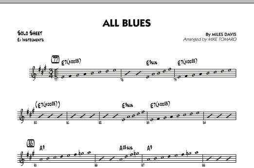 All Blues - Eb Solo Sheet Sheet Music | Mike Tomaro | Jazz Ensemble