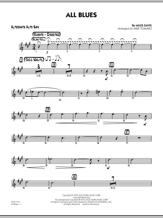 All Blues - Alternate Alto Sax (Jazz Ensemble)
