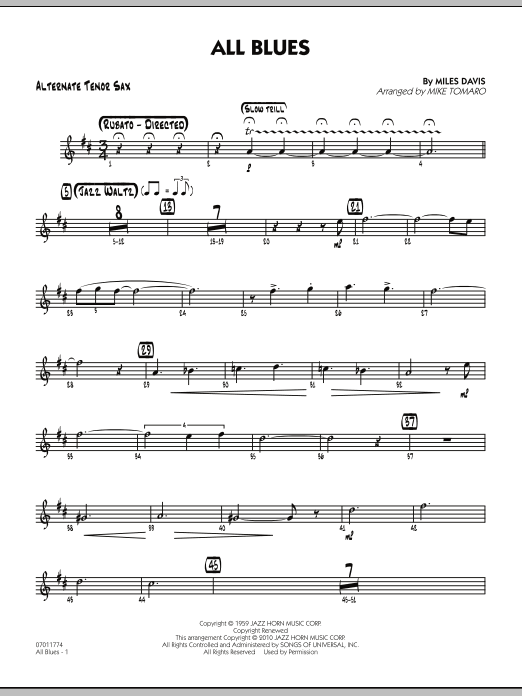 All Blues - Alternate Tenor Sax (Jazz Ensemble)