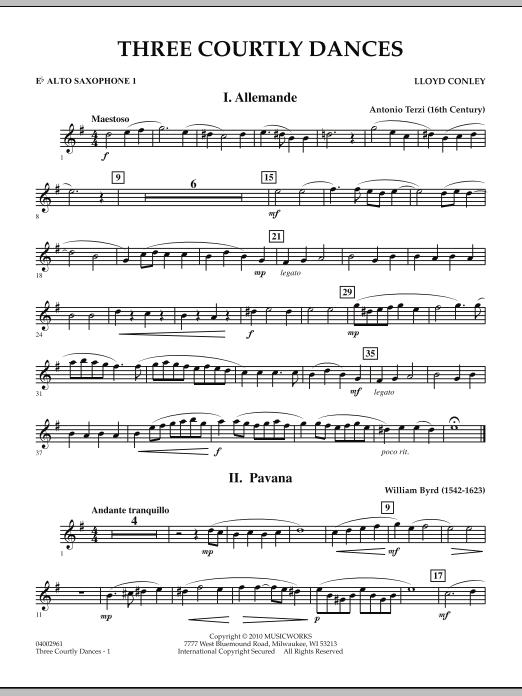 Three Courtly Dances - Eb Alto Saxophone 1 (Concert Band)