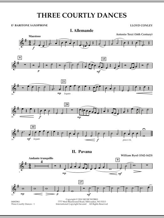 Three Courtly Dances - Eb Baritone Saxophone (Concert Band)