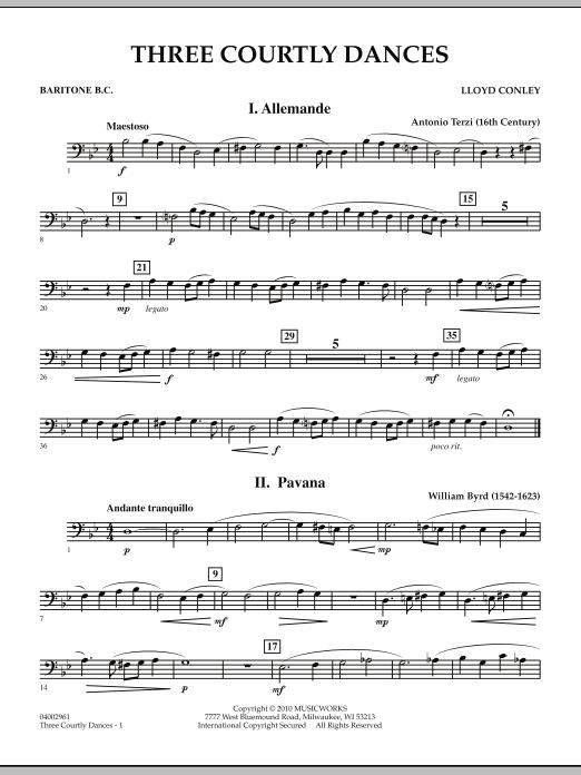 Three Courtly Dances - Baritone B.C. (Concert Band)