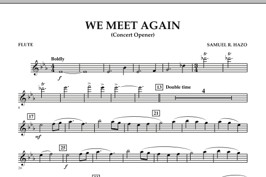 We Meet Again - Flute (Concert Band)