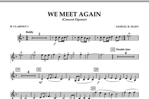 We Meet Again - Bb Clarinet 1 (Concert Band)