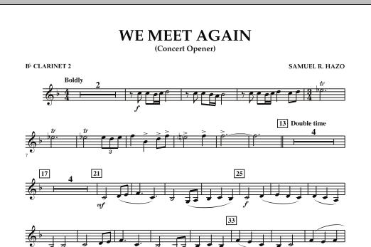We Meet Again - Bb Clarinet 2 (Concert Band)