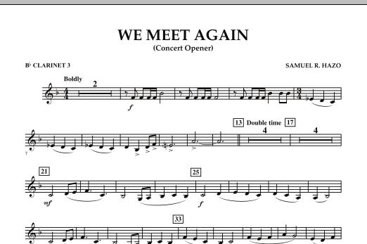 We Meet Again - Eb Alto Clarinet (Concert Band)